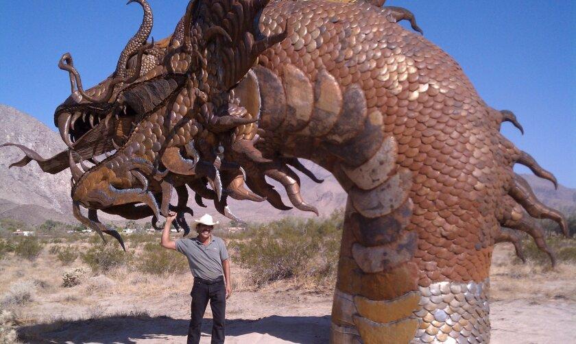 Artist finishes Borrego sea serpent