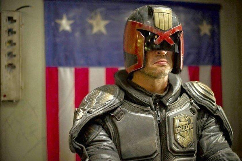 "Karl Urban stars as Judge Dredd in ""Dredd 3D."""