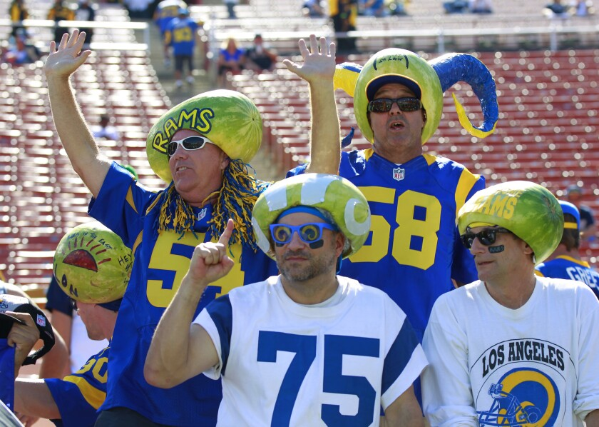 Rams return to Los Angeles