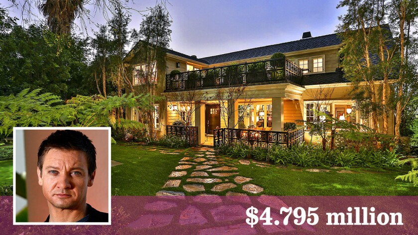 Jeremy Renner has listed a renovated house in Hollywood at $4.795 million.