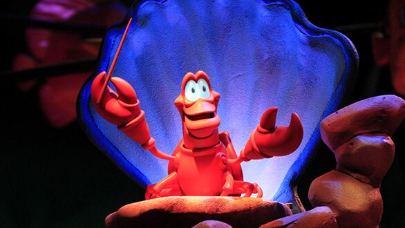 Garner Holt Productions created Sebastian the crab and other animatronic characters for the Little Mermaid attractions at Disney theme parks.