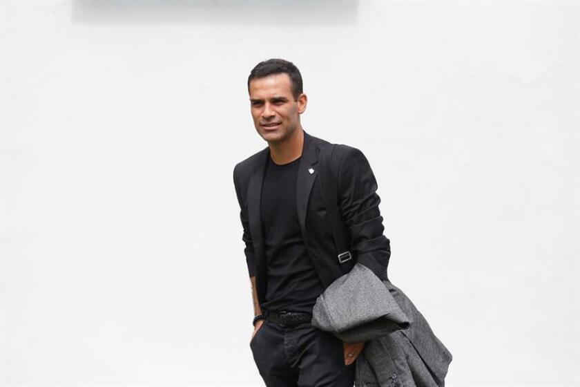 El exfutbolista mexicano Rafael Márquez Álvarez llega para una conferencia de prensa hoy, martes 7 de agosto de 2018, en las instalaciones del club Atlas, en la ciudad de Zapopan, Jalisco (México). EFE