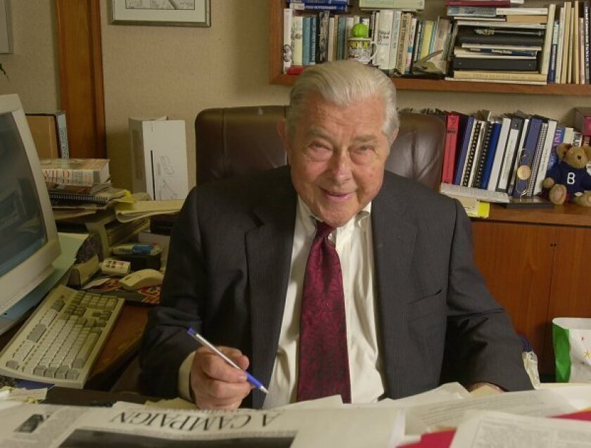 Herbert G. Klein, the former Nixon aide whose 52 years with Copley Newspapers and active role in  civic affairs made him a San Diego icon, died Thursday, July 2, 2009.