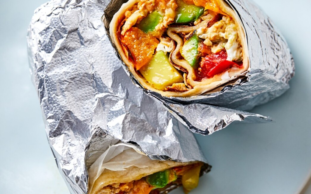 Weekday Breakfast Burritos With Seared Tomatoes and Avocado