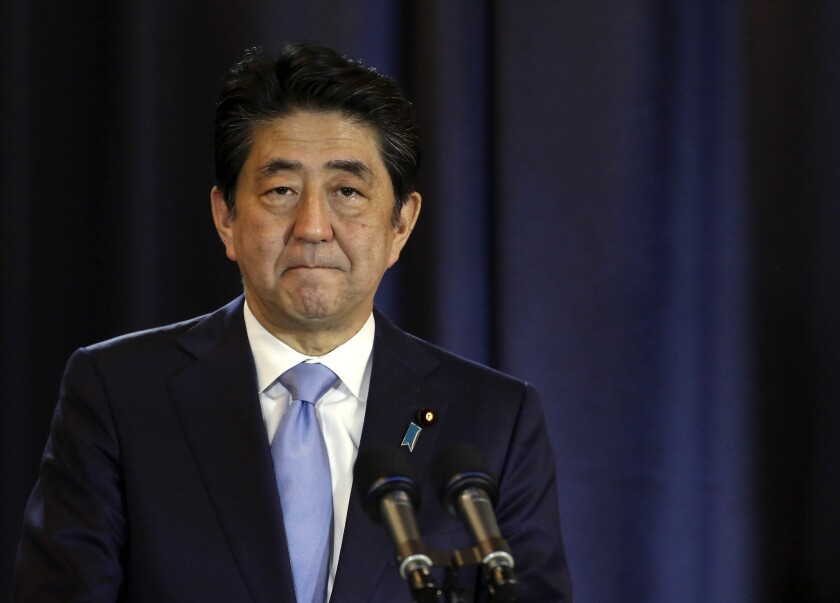 Japanese Prime Minister Shinzo Abe at a news conference on Nov. 21.