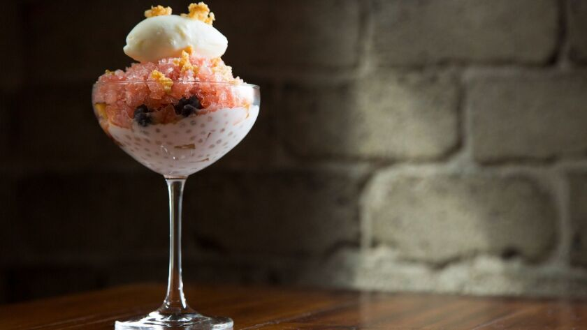 This halo halo from Rèpublique's Margarita Manzke is creamy, icy, fruity and refreshing.