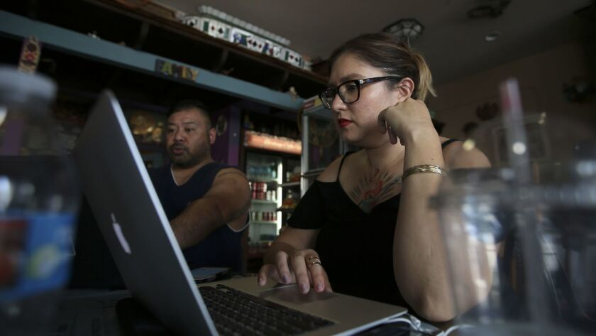 """An ordinance in L.A. County to keep employers from looking at applicants' pasts, Lily Gonzalez said, would mean """"everything."""