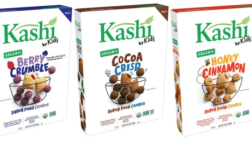 The three varieties of Kashi by Kids cereals.