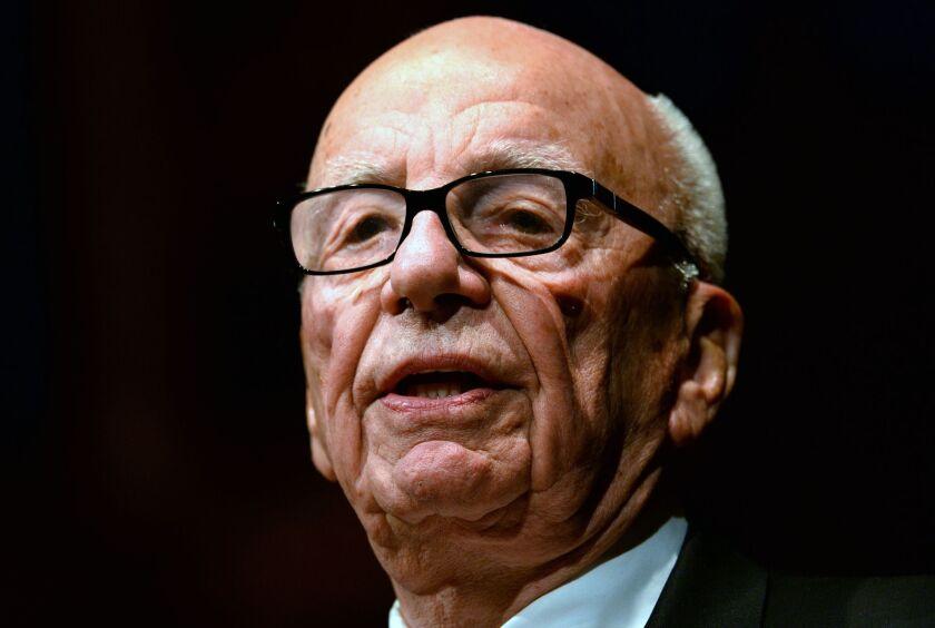 Rupert Murdoch speaks in Sydney, Australia, on Oct. 31, 2013.