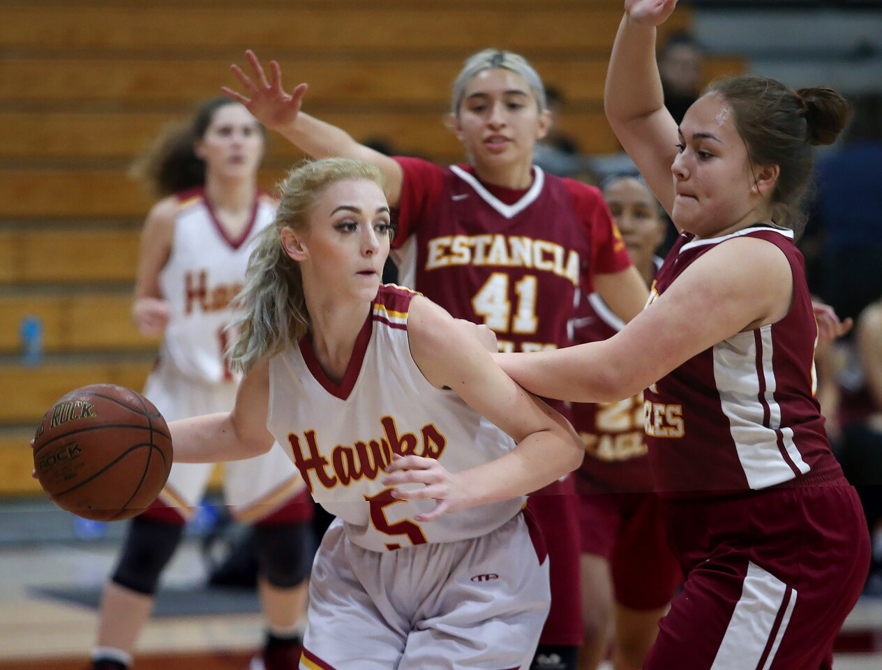 Photo Gallery: Estancia vs. Ocean View in girls' basketball