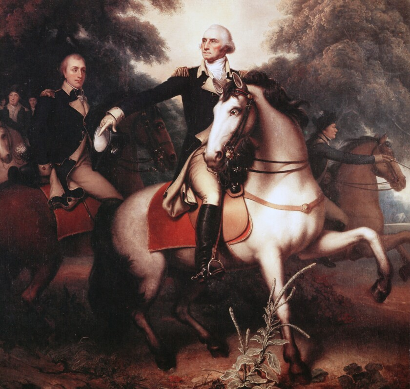 George Washington prepares for the final battle of the Revolutionary War in a portrait by Rembrandt Peale. To fight the British, Washington also had to fight smallpox — and made the tough decision to inoculate his troops.