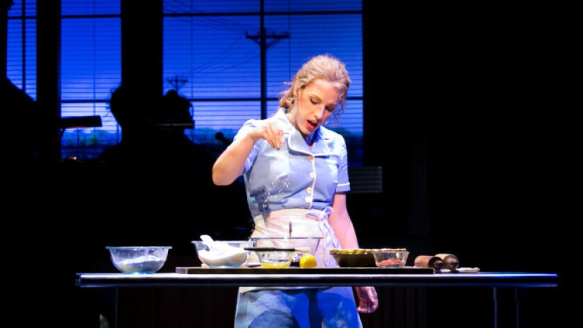 Jessie Mueller as Jenna in a trial run of 'Waitress,' which will soon open on Broadway.