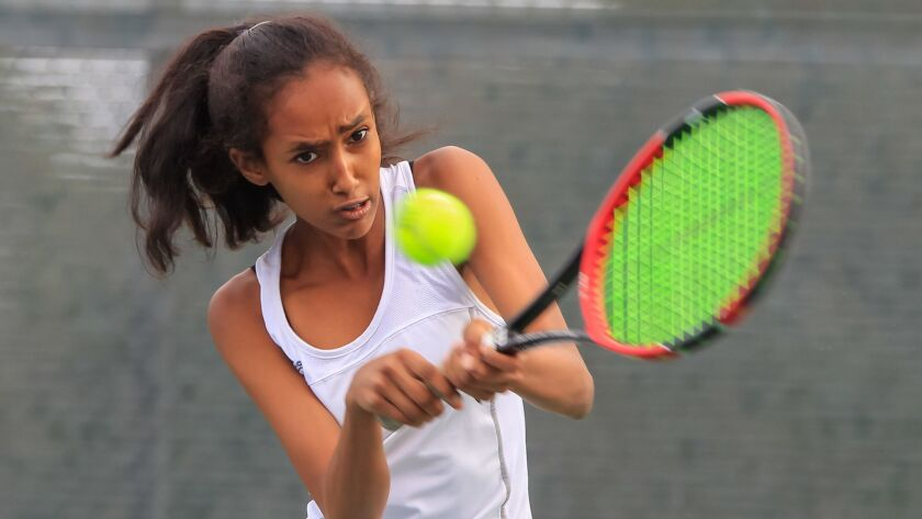 Helix sophomore Winta Woldeab reached the San Diego Section singles semifinals last season.