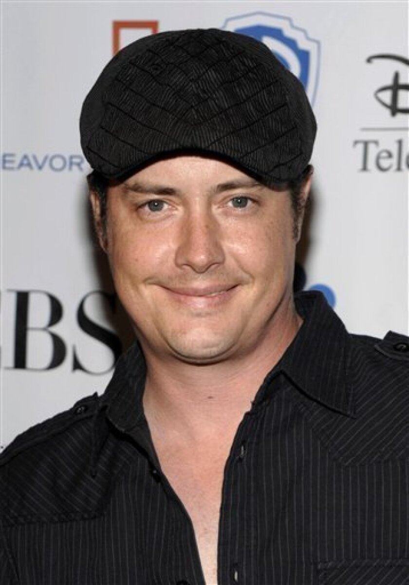FILE - In this Dec. 3, 2009 file photo, actor Jeremy London arrives at the Junior Hollywood Radio and Television Society 7th annual holiday party in Los Angeles. (AP Photo/Dan Steinberg, file)