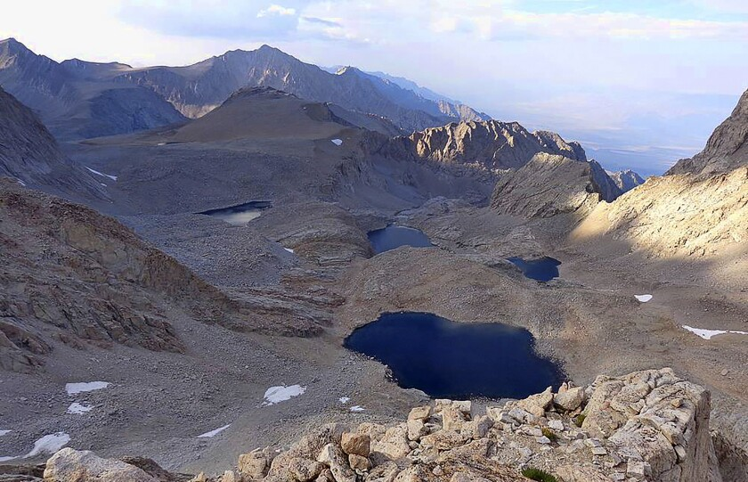 FILE - This undated file photo provided by the Inyo County Sheriff's Office shows Mount Williamson, where authorities say the skeletal remains of a person were discovered on Oct. 7, 2019, beneath the state's second-highest peak. The skeleton found by hikers this fall near California's second-highest peak was identified Friday, Jan. 3, 2020, as a Japanese American artist Giichi Matsumura, who had left the Manzanar internment camp to paint in the mountains in the waning days of World War II. (Inyo County Sheriff's Office via AP, File)