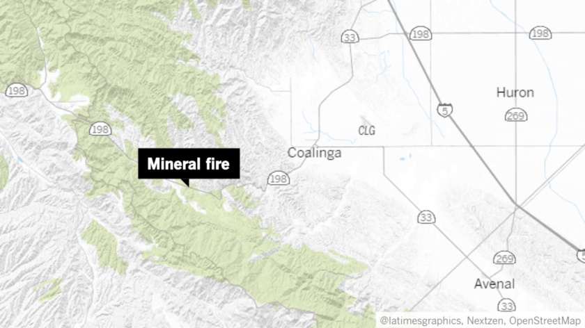The Mineral fire grew from 400 to 1,000 acres in just two hours Monday.
