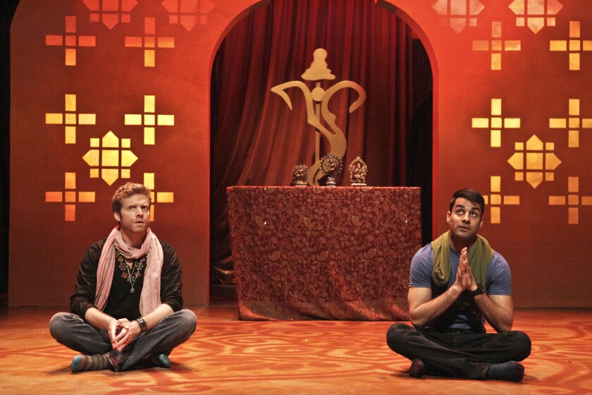 "Christian Durso, left, and Andy Gala in ""A Nice Indian Boy"" at East West Players."