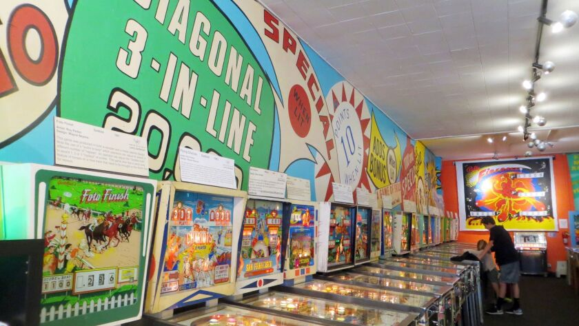 One of the rooms at the Pacific Pinball Museum.