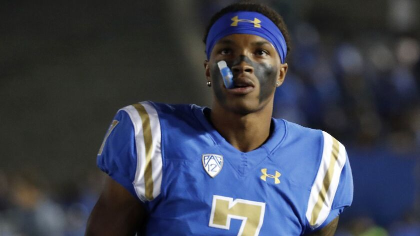 UCLA quarterback Dorian Thompson-Robinson has been champing at the mouthpiece to get going this spring.