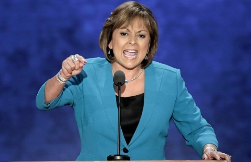 La gobernadora de New Mexico Susana Martinez