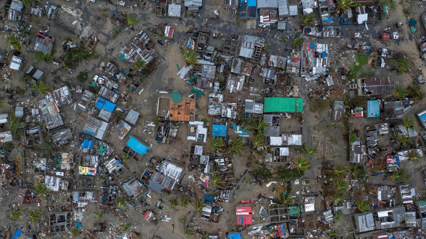 Devastation in Mozambique from Cyclone Idai