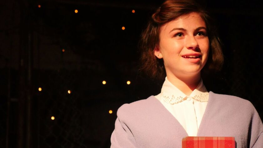 "Katelyn Katz stars in Moxie Theatre's ""The Diary of Anne Frank."""