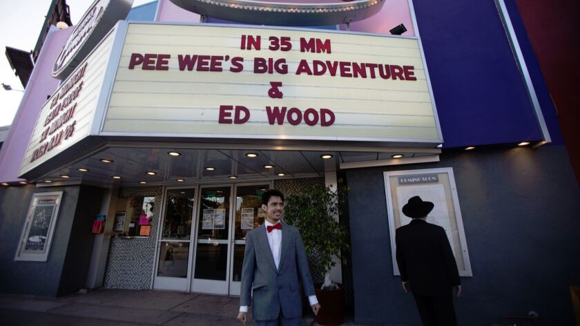 "Cody Chavez came dressed as Pee-wee to the New Beverly Cinema to see ""Pee-wee's Big Adventure""."