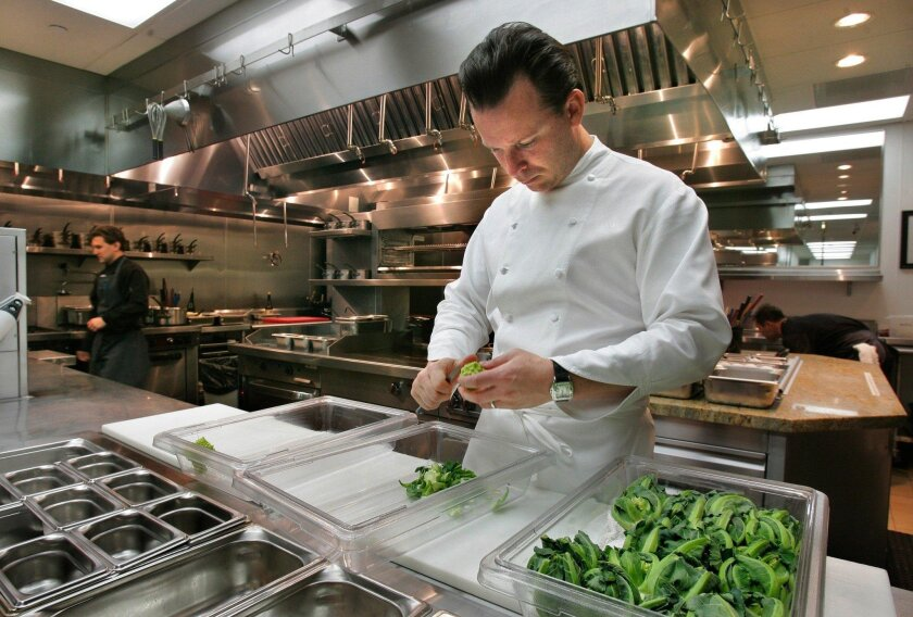 Addison Executive Chef William Bradley at the Fairmont Grand Del Mar resort. Bradley and the restaurant's wine program earned their fourth nominations this week.