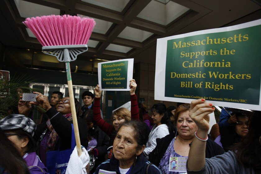 Gov. Brown signs bill making domestic workers eligible for overtime