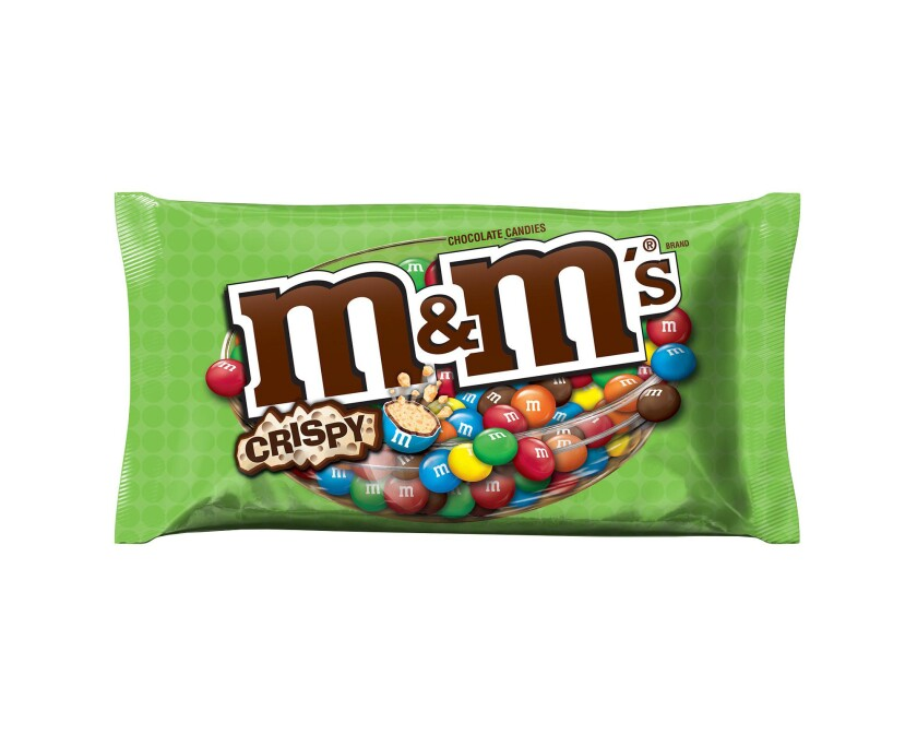 The new M&M's Crispy candies