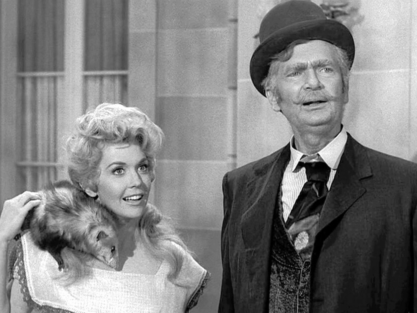 """Donna Douglas played Elly May Clampett and Buddy Ebsen played her father, Jed, on """"The Beverly Hillbillies."""" """"I loved doing Elly May,"""" Douglas said."""
