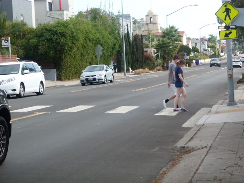 The La Jolla Traffic & Transportation board heard ideas to improve pedestrian safety in crosswalks along La Jolla Blvd.