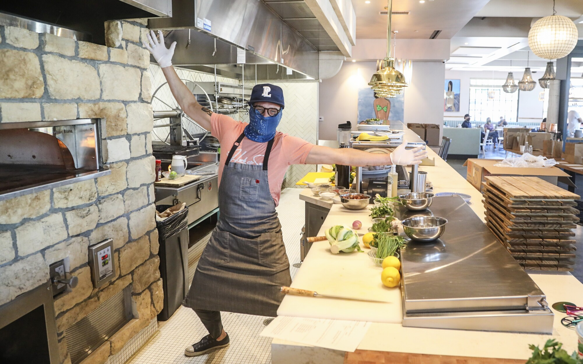 San Diego restaurateur Brian Malarkey reopens his Herb & Sea restaurant for takeout only, saying he's not ready to resume dining-in at any of his 10 restaurants. He fears that his operation cannot make it financially with much reduced seating due to coronavirus restrictions.