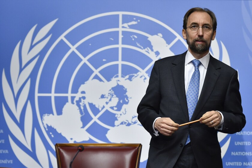 United Nations High Commissioner for Human Rights Zeid Raad Hussein called for a hybrid court to punish perpretrators who carried out mass atrocities against Tamil civilians during Sri Lanka's civil war.