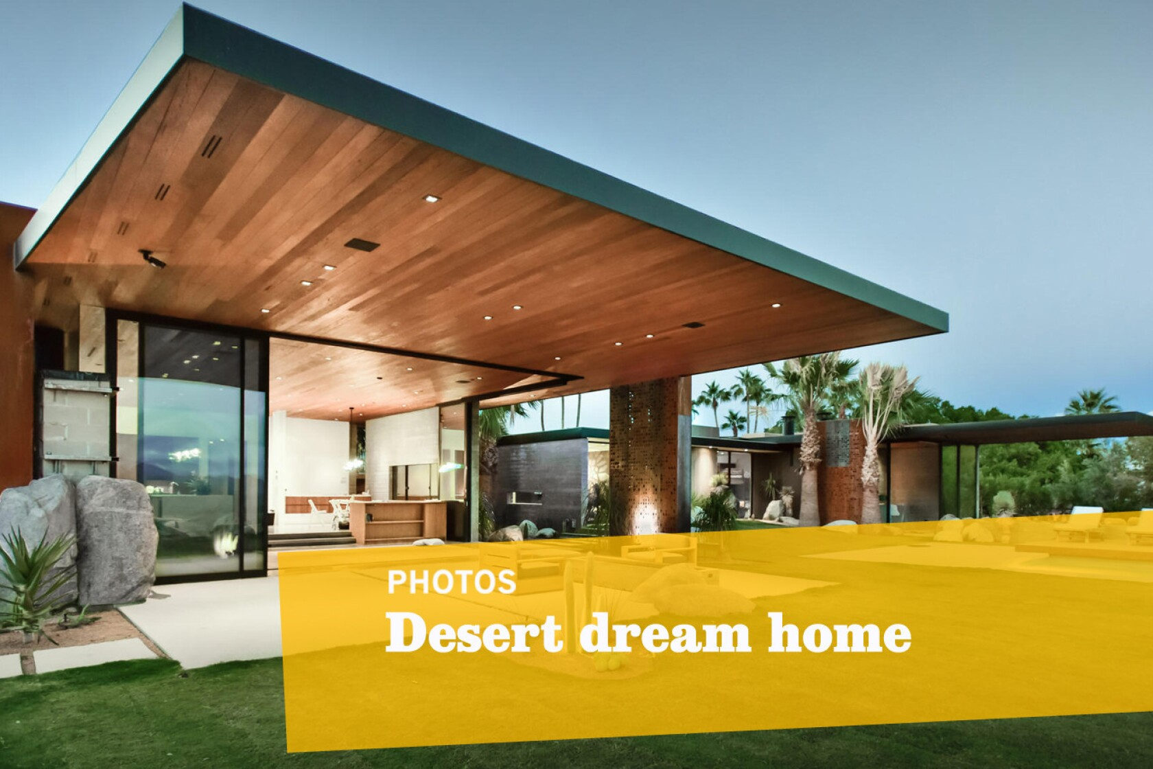 This Palm Springs dream home is built to look like it's 'launching off the hillside'