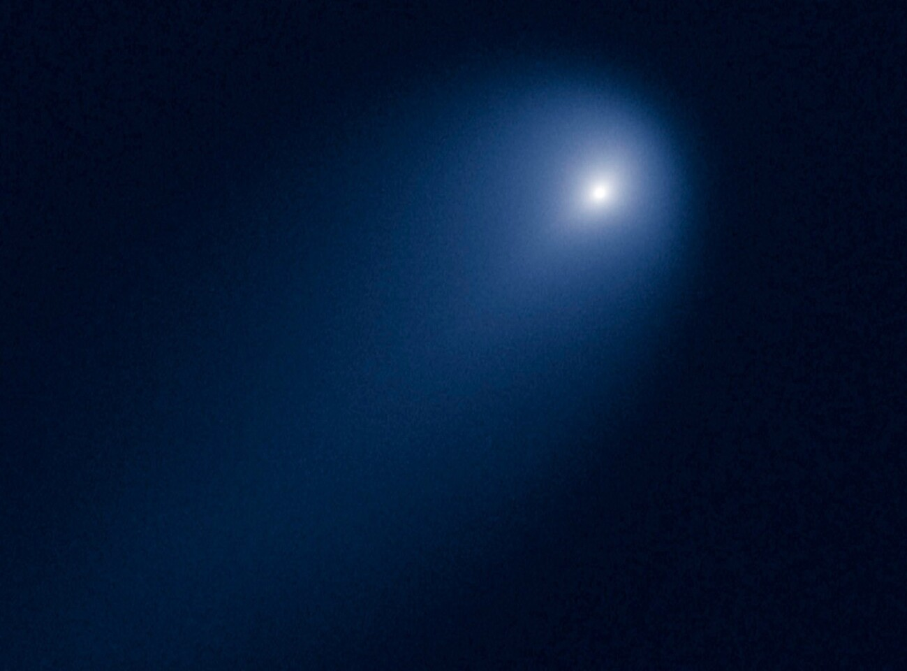 In this image taken by the Hubble Space Telescope, the comet ISON is slightly closer than Jupiter's orbit at a distance of 386 million miles from the sun as it approaches the inner solar system. ISON is expected to make its closest approach to the sun on Nov. 28.