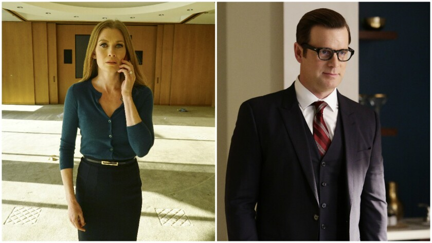 """Mireille Enos, left, and Peter Krause star in """"The Catch."""""""