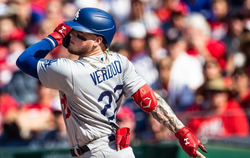 Dodgers outfielder Alex Verdugo