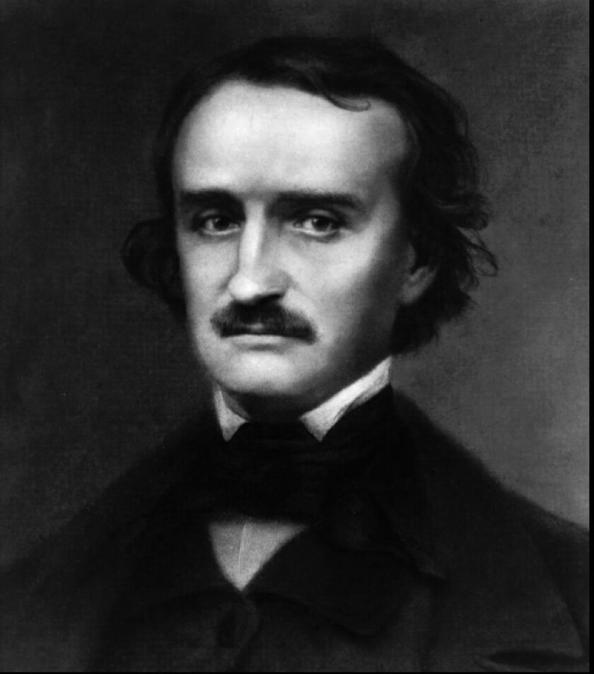 Edgar Allan Poe, who died on Oct. 7, 1849, 165 years ago today.