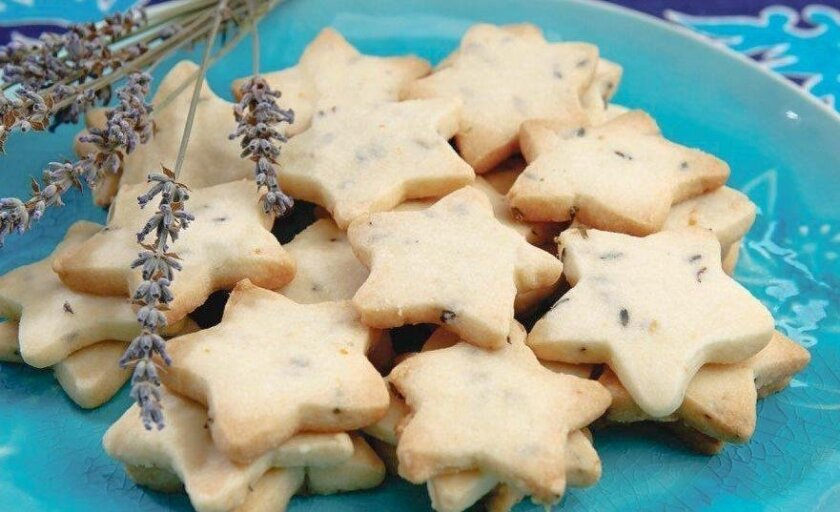 """Lavender shortbread from Kitty Morse's """"Edible Flowers: A Kitchen Companion with Recipes."""""""