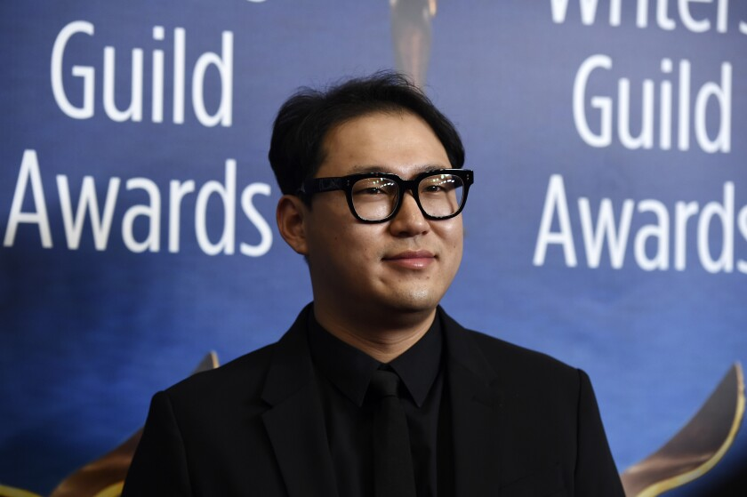 """Han Jin Won, a Writers Guild Award co-nominee with Bong Joon Ho for original screenplay for their film """"Parasite,"""" poses at the 2020 Writers Guild Awards at the Beverly Hilton on Feb. 1."""