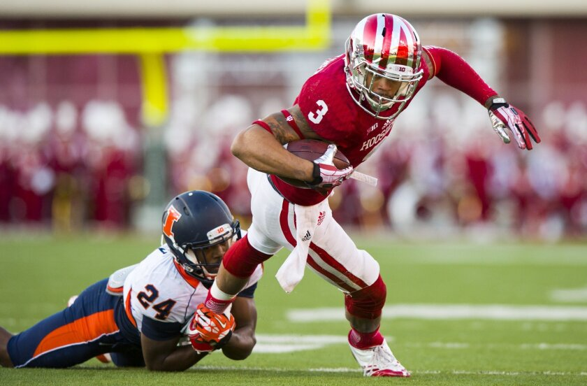 Former Indiana wide receiver Cody Latimer paid an April 16 visit to Chargers Park, three weeks before the 2014 NFL Draft.
