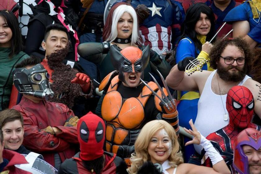 People participate in a Marvel Comics photo shoot on the second day of Comic Con International in San Diego, California, USA. EFE/EPA/FILE