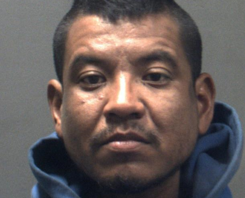 Luis Mondragon, 34, was arrested on suspicion of causing a brush fire that erupted in the Jurupa Mountains on Sunday.