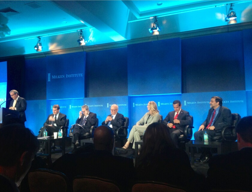 Panelists at the Milken Global Conference said Monday that immigration reform would boost the U.S. economy.