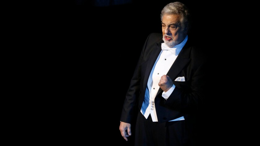 Plácido Domingo performs at a benefit for the L.A. Opera in the spring.