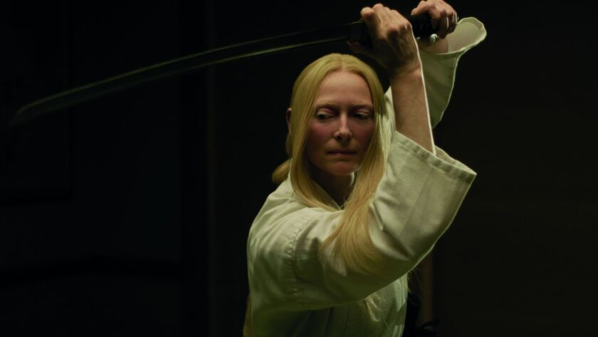 "Tilda Swinton stars as ""Zelda Winston"" in writer/director Jim Jarmusch's THE DEAD DON'T DIE, a Focus"