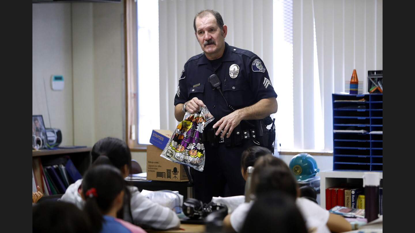 Photo Gallery: Cops for Kids brings Halloween treats and safety tips to Verdugo Woodlands Elementary School