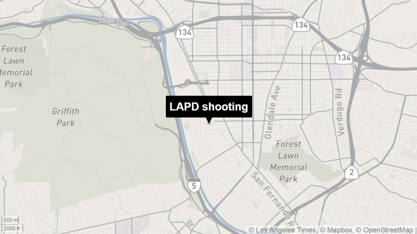 A man was shot by police in Atwater Village and later died.