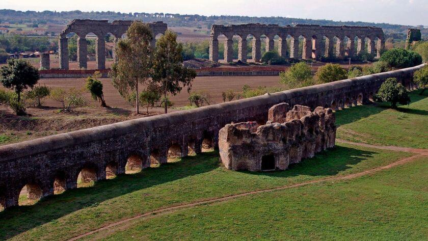 ROME, ITALY, 2008: The Villa delle Vignacce complex was built in the second century AD. The villa is